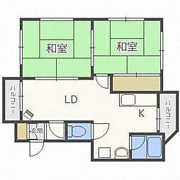 北海道札幌市厚別区厚別中央五条4丁目の賃貸マンションの間取り