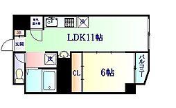仙台市地下鉄東西線 川内駅 徒歩15分の賃貸マンション 3階1LDKの間取り