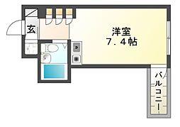 プレアール立花[3階]の間取り