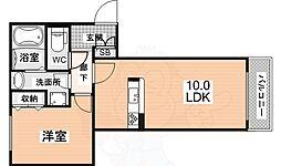 シャーメゾングランデージ 3階1LDKの間取り