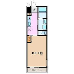 カーサアリエッタ 1階1Kの間取り