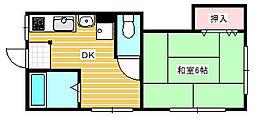 朝岡マンション[2階]の間取り