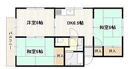 広島県広島市西区井口台1丁目の賃貸アパートの間取り