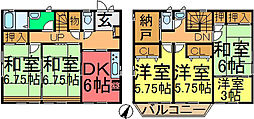[一戸建] 東京都江戸川区松島1丁目 の賃貸【/】の間取り