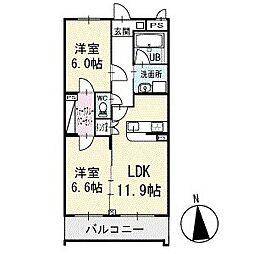 ウィステリア スクエア 1階[103号室]の間取り