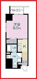 東京都台東区松が谷1丁目の賃貸マンションの間取り