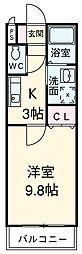 愛知県安城市城南町2丁目の賃貸アパートの間取り