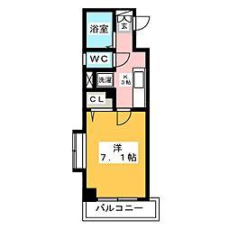 グランシャリオ箱崎[2階]の間取り