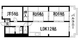 兵庫県宝塚市花屋敷荘園3丁目の賃貸マンションの間取り