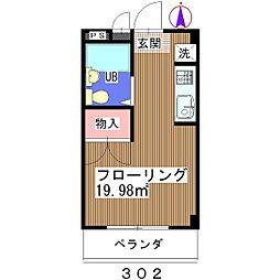 山崎ビル[302号室]の間取り