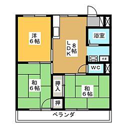 尾関西ビル[1階]の間取り