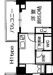 Osaka Metro長堀鶴見緑地線 西長堀駅 徒歩3分の賃貸マンション 3階1Kの間取り