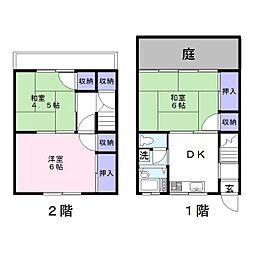 小暮テラスハウス[1階]の間取り