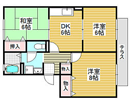 アベニューA棟[1階]の間取り