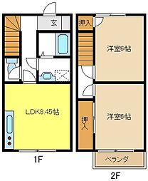 [テラスハウス] 愛知県名古屋市緑区鳴海町 の賃貸【/】の間取り