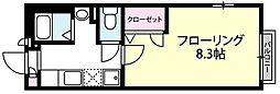 グランメールC棟[205号室]の間取り