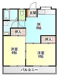 星崎アパート2号棟[211号室]の間取り