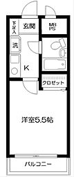 神奈川県横浜市南区浦舟町3丁目の賃貸マンションの間取り