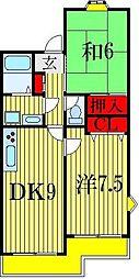 クリスタルパレス東船橋[2階]の間取り