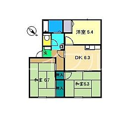 幸ハウス C棟[1階]の間取り