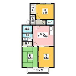 ランティス[2階]の間取り
