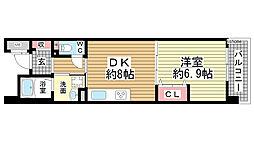 フレール六甲桜ヶ丘[404号室]の間取り
