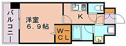 エンクレスト博多LIBERTY[11階]の間取り