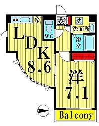 ハイポイント竹ノ塚[901号室]の間取り
