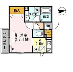 プラージュ武庫川[1階]の間取り