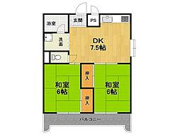 第2田中マンション[3階]の間取り