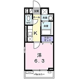 フォレストハウス[0303号室]の間取り