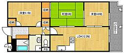 兵庫県神戸市垂水区乙木1丁目の賃貸マンションの間取り