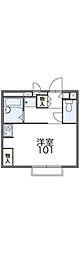 広島電鉄6系統 江波駅 徒歩11分の賃貸アパート 2階1Kの間取り