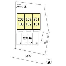 フォレスト田中[1階]の外観
