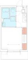 東急田園都市線 中央林間駅 徒歩7分の賃貸マンション 1階1Kの間取り