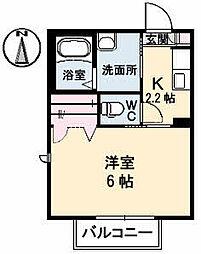 ハピネス壱番館[2階]の間取り