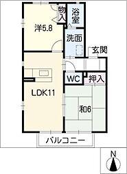 プレミールTK[1階]の間取り