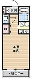 ジュネス堀川[106号室号室]の間取り