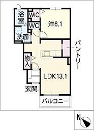 リバティ II[1階]の間取り