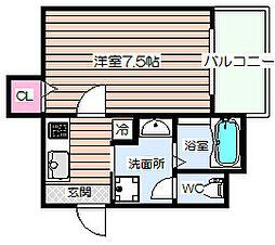 C&Aレジデンス[1階]の間取り