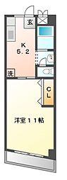 富士メイトマンション[3階]の間取り