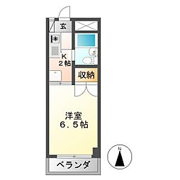 安田学研会館 西棟[1階]の間取り