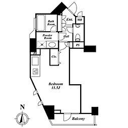 ドゥーエ西麻布I[13階]の間取り