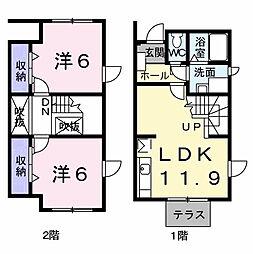 スウィングハート松ヶ島[1階]の間取り