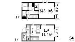 [一戸建] 兵庫県川西市加茂3丁目 の賃貸【兵庫県 / 川西市】の間取り