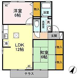 シャルムU[1階]の間取り