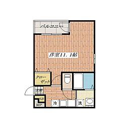 カルディアA棟[2階]の間取り
