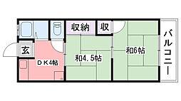 レクシア武庫川(旧甲陽住宅)[2階]の間取り
