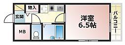 マドーレ北野[2階]の間取り