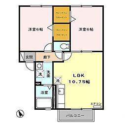 セジュールSASUKE[2階]の間取り